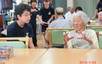 中学生による福祉体験活動